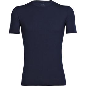 Icebreaker Anatomica SS Crewe Shirt Herr Midnight Navy